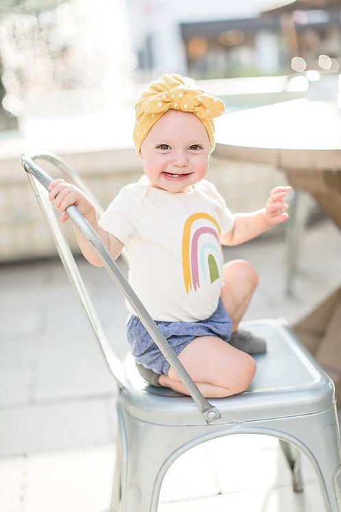 Mustard Polka Dot Baby Turban