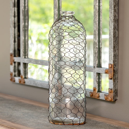 Bottle with Poultry Wire