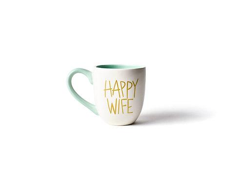 White Happy Wife Mug