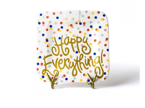 Happy Everything Happy Dot Mini Square Platter
