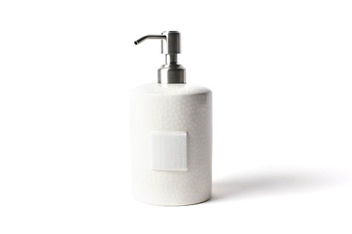 White Small Dot Mini Cylinder Soap Pump