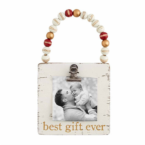 BEST GIFT EVER WOOD BEAD PHOTO ORNAMENT