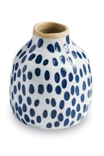 MUD PIE SMALL BLUE BUD VASE
