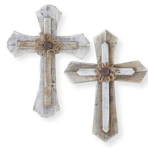 Brown Wood Assorted Crosses