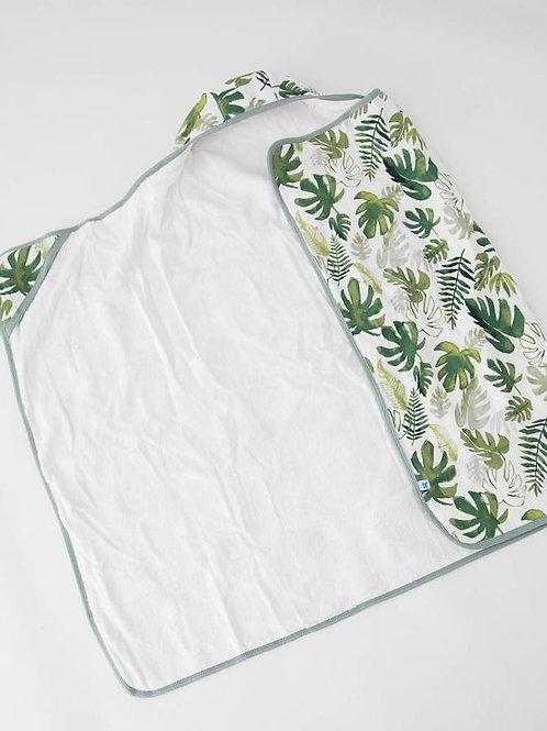 Big Kid Hooded Towel - Tropical Leaf