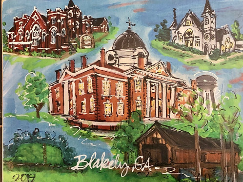 Custom Blakely, GA wood print