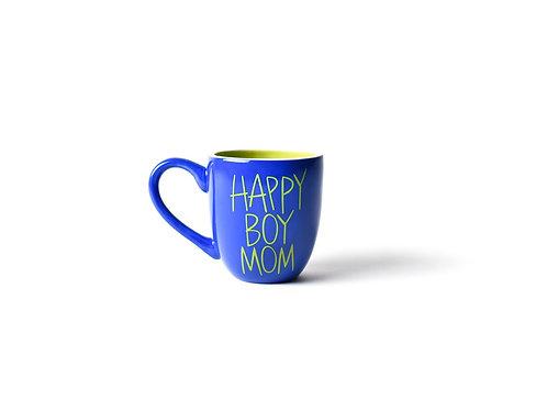 Cobalt Happy Boy Mom Mug