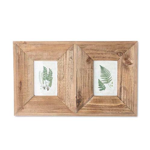 Double Fern Prints in Wooden Frame