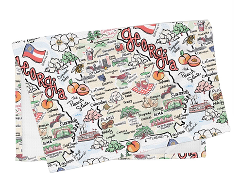 Georgia Map Dish Towel