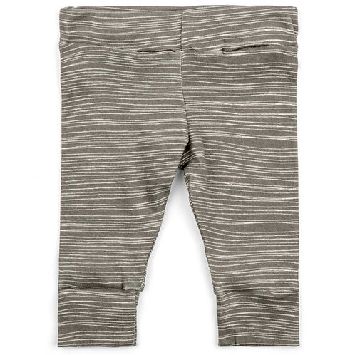 Grey Stripe Organic Cotton Legging
