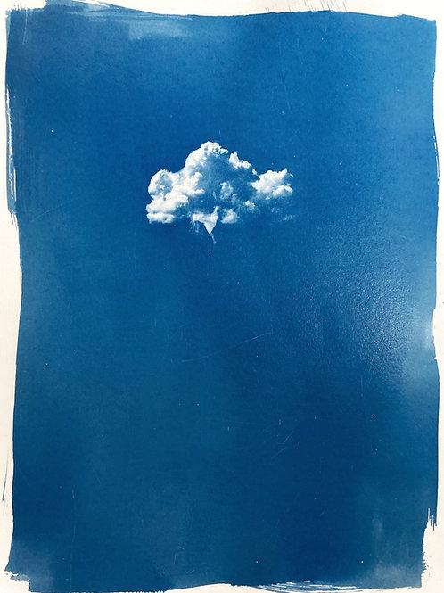 little lady falling from a cloud (30x40cm)