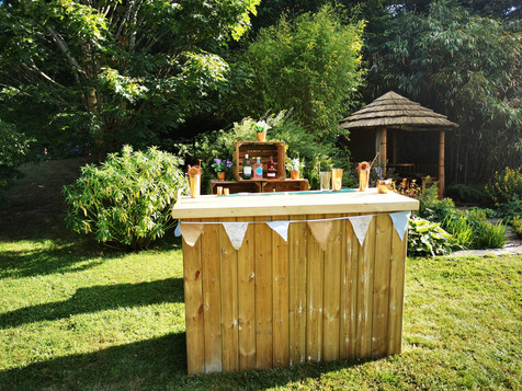 Rustic Pop Up Bar