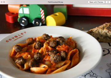 Pasta with Red Sauce and Meatballs