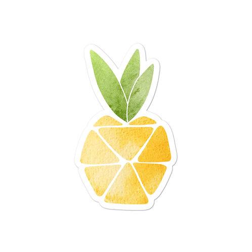 Geometric Pineapple Sticker