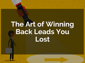 The Art of Winning Back Leads You Lost