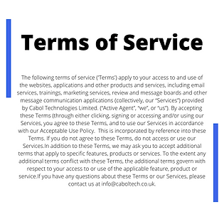 Active Agent Terms of Service