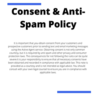 Active Agent Conesnt & Anti-Spam Policy