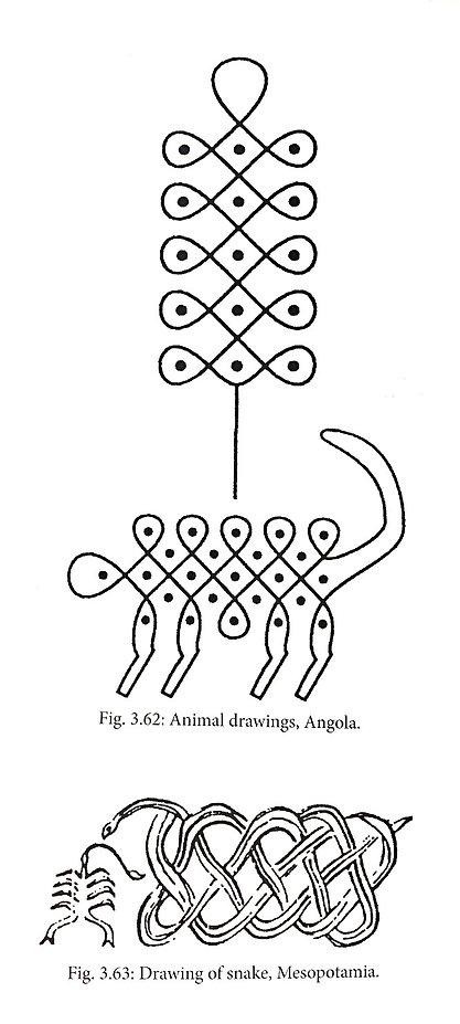 ANCIENT KNOTS ANIMAL DRAWINGS