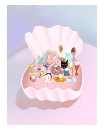 Egg Cup Art Print