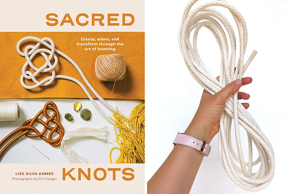 Sacred Knots Book + Cotton Braid Rope