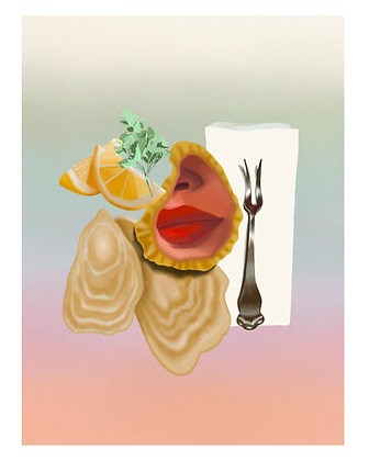 Oyster Compact Art Print