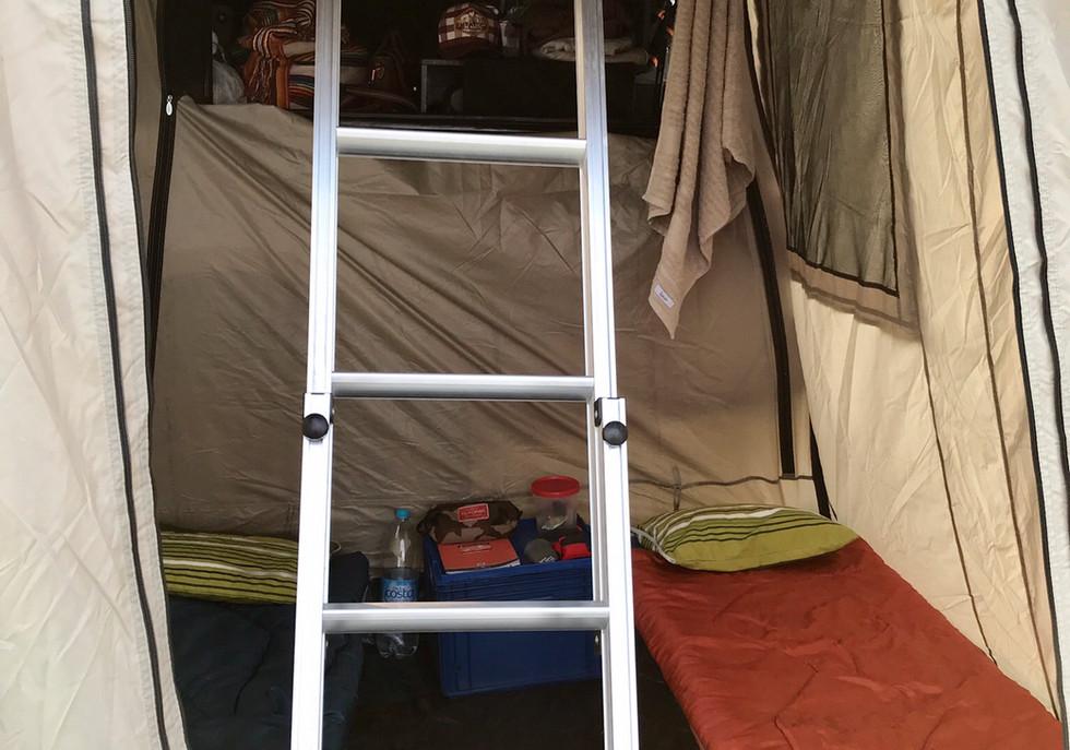 Annexe tente de toit