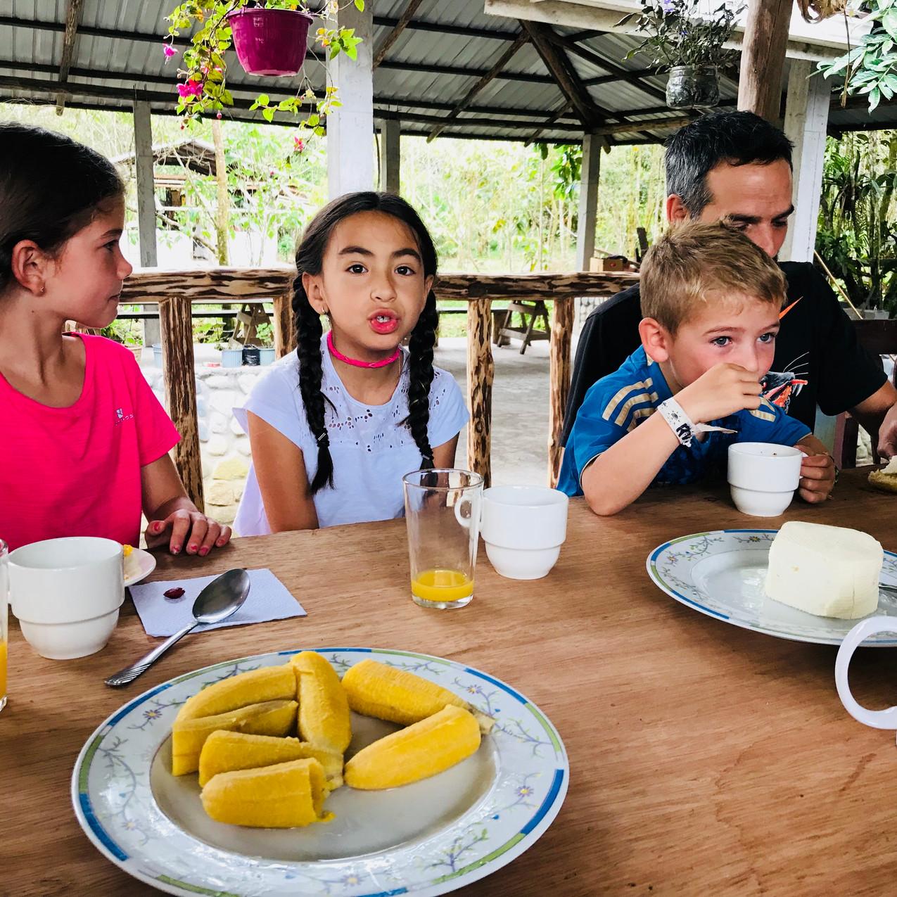 Petit déjeuné équatorien