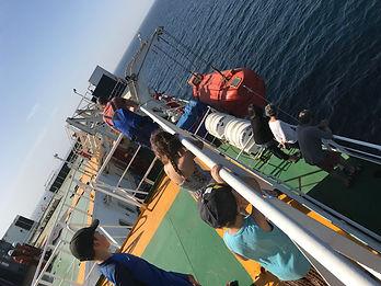 Manoeuvre d'evacuation du cargo grimaldi