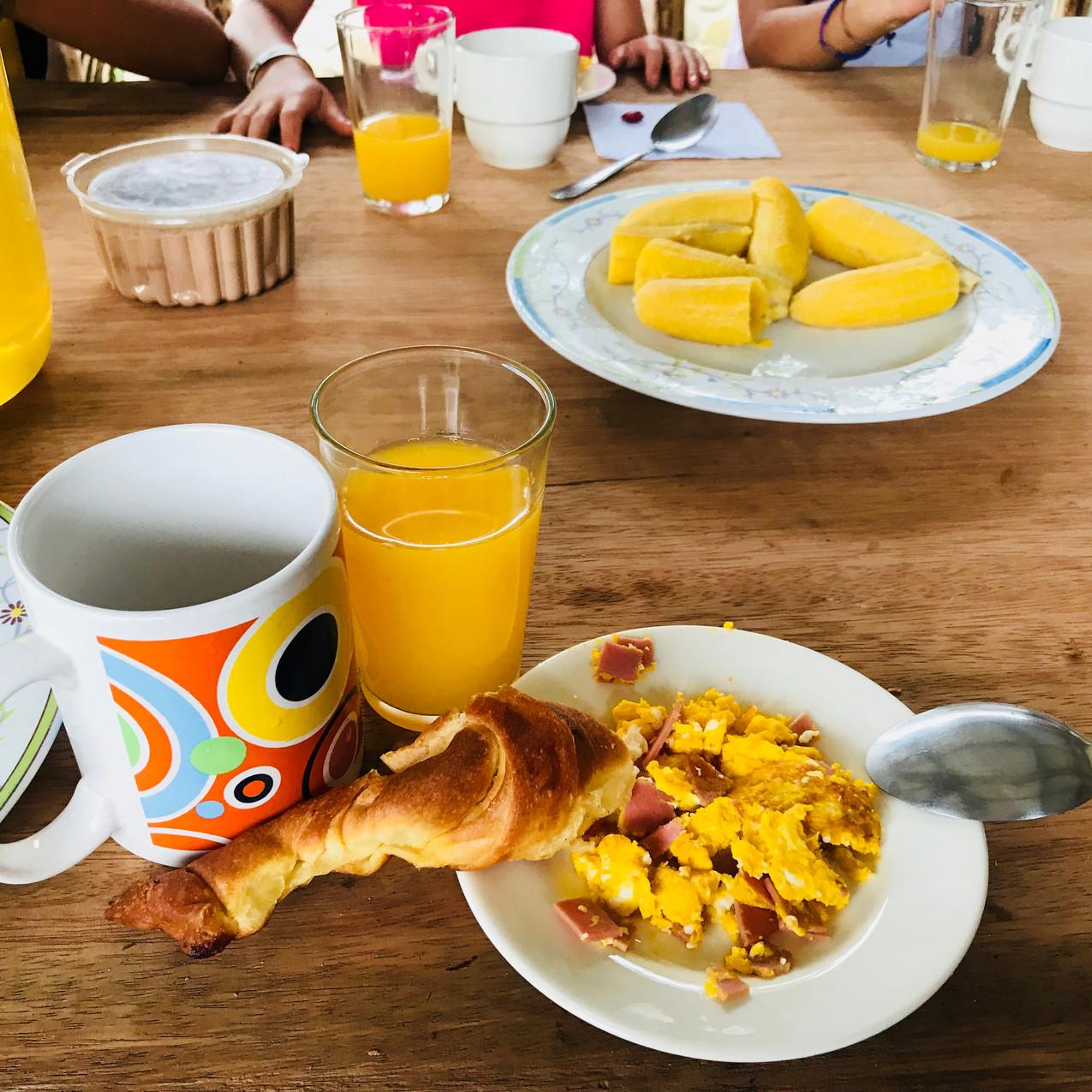 Petit déjeuné equatorien