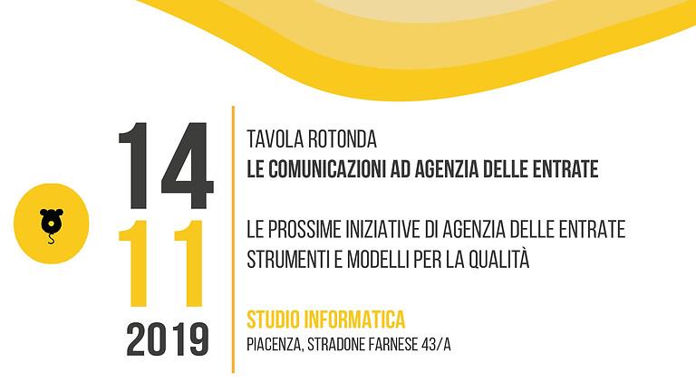 Tavola Rotonda - Le comunicazioni ad Agenzia delle Entrate.