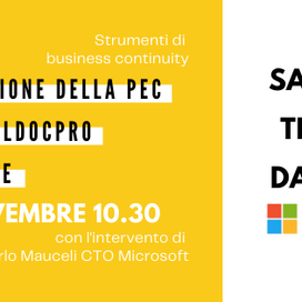 Evento - La gestione della PEC con mailDocPRO su Azure