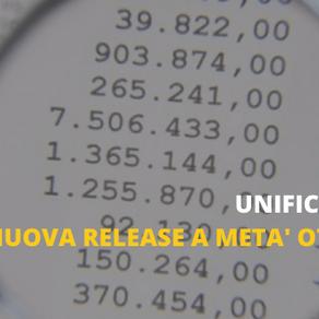 Unificata 9.0 disponibile a metà ottobre