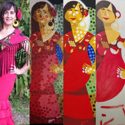 G de GITANA (collage) 8
