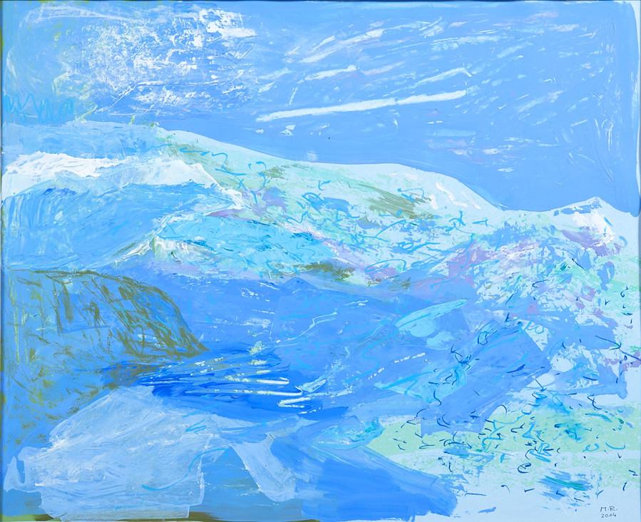 Winter, 2014, 64 x 77 cm, Siebdruckübermalung auf Papier