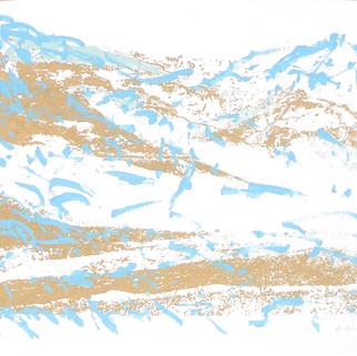 Endlich Schnee 2, 2011, 40 x 50 cm, Siebdruckübermalung