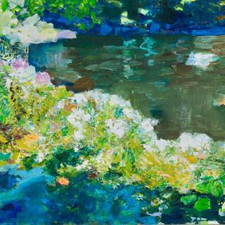 Im Berliner Tiergarten 1, 2011, 72 x 200 cm, oil on canvas