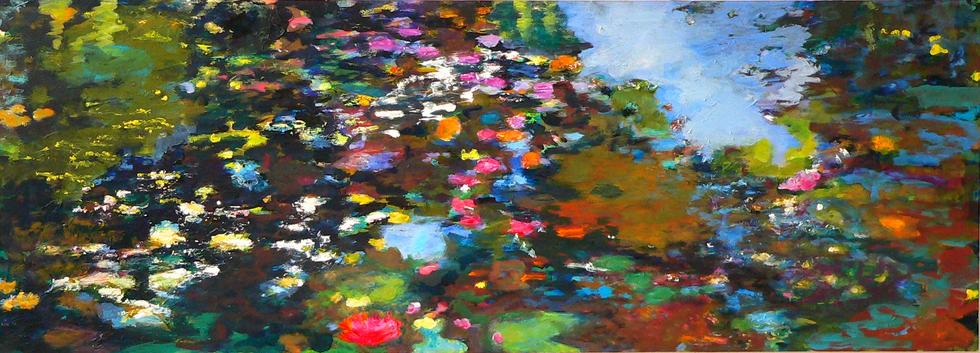 Spiegelungen II, 2010, 72 x 200 cm, oil on canvas