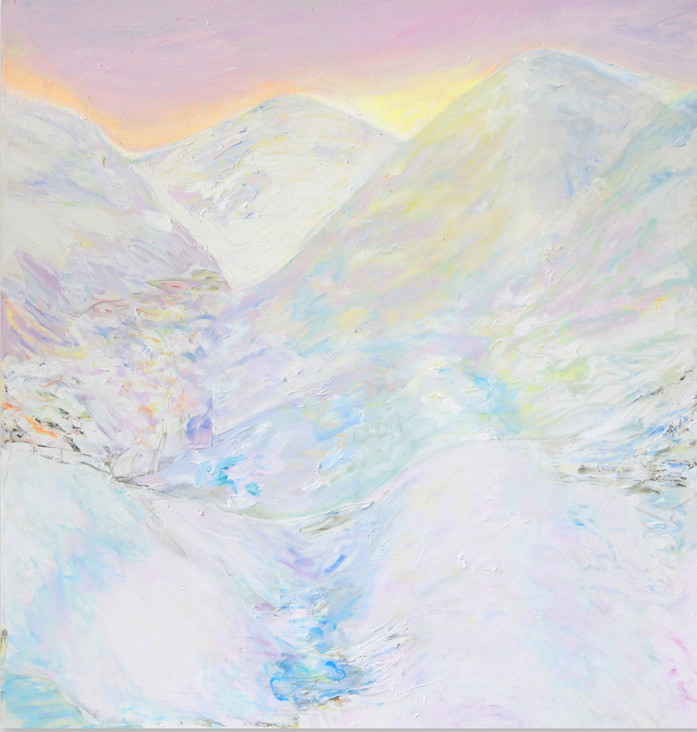 Eingeschneit, 2008/14, 136 x130 cm, oil on canvas