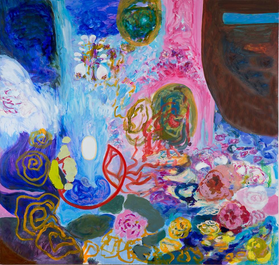 Abhisheka, 2014/15, 190 x 200 cm, oil on canvas