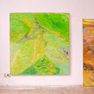 Flucht mit Romeo, 2014/15, 136 x 130 cm, oil on canvas