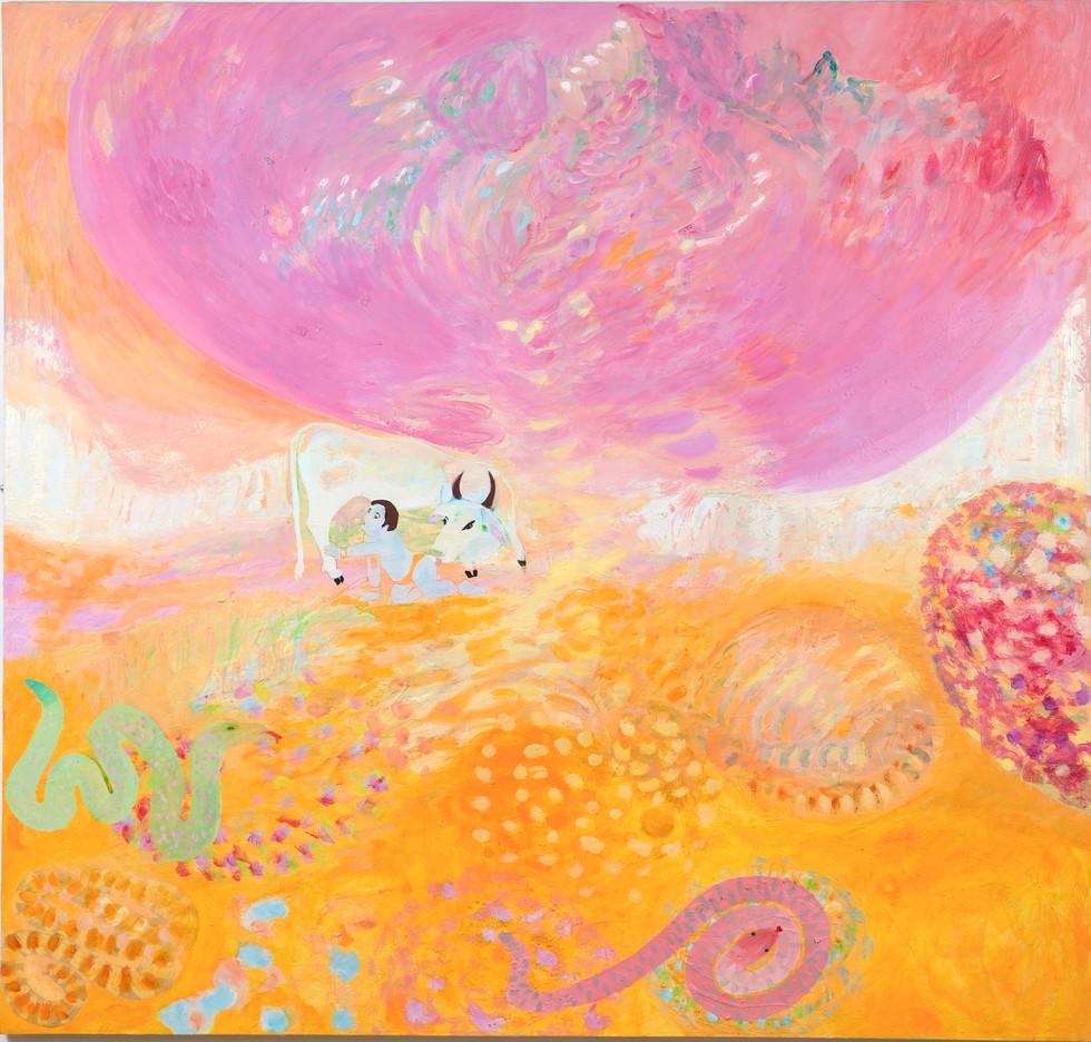 Und es gibt sie doch, 2014/15, 190 x 200 cm, oil on canvas