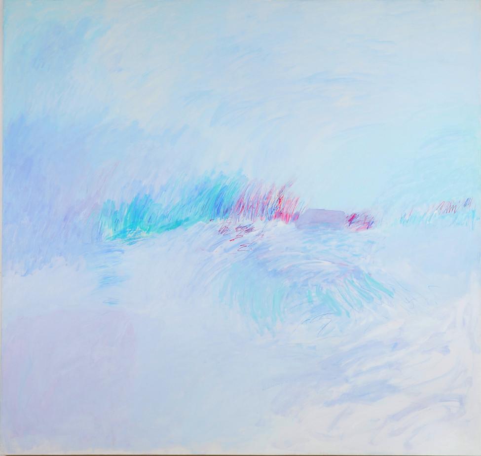 Noch 300 Meter, 190 x 200 cm, 1996, Acryl on canvas