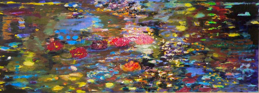 Spiegelungen I, 2009, 72 x 200 cm, oil on canvas