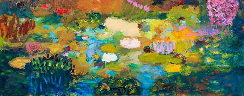 Teich II, 2014, 55 x 140 cm, oil on canvas
