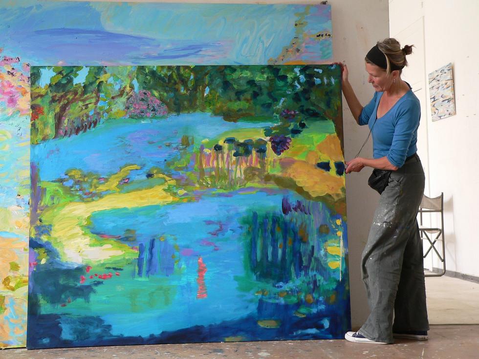 Krishna's Hidingplace, 2008/11, 150 x 170 cm, oil on canvas