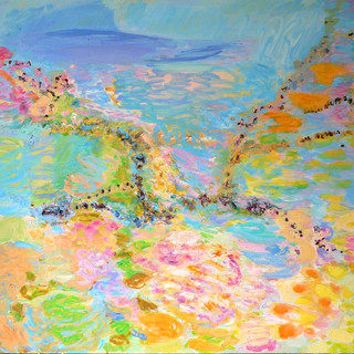 """""""Nach Hause/ Going home"""", 2014/15, 190 x 200 cm, oil on canvas"""