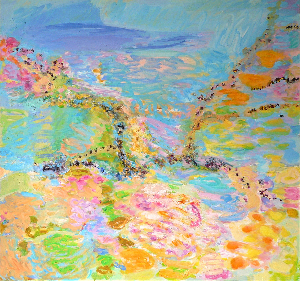 Nach Hause/ going home, 2014/15, 190 x 200 cm, oil on canvas
