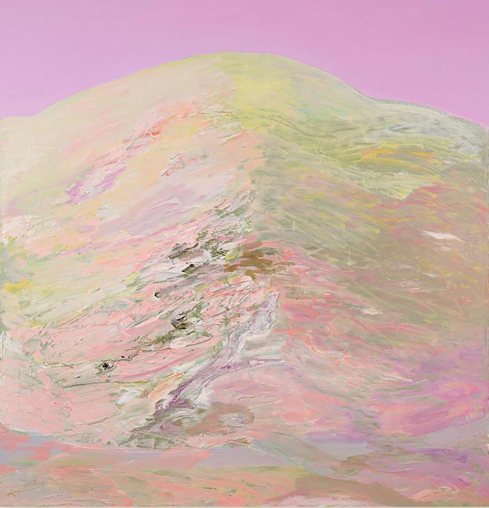 Schweizer Berg, 2013, 136 x130 cm, oil on canvas
