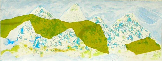 Schwestern, 2007, 37,5 x 100 cm, Siebdruck/ Mischtechnik auf Papier