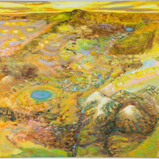 Erde, 2013/15, 150 x 170 cm, oil and sand on canvas